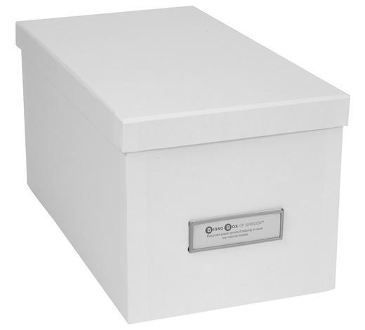 AUFBEWAHRUNGSBOX 29,5/16,5/15 cm - Weiß, Basics, Karton (29,5/16,5/15cm)