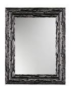 WANDSPIEGEL 73/58/2,5 cm   - Silberfarben/Schwarz, Design, Glas/Holz (73/58/2,5cm)