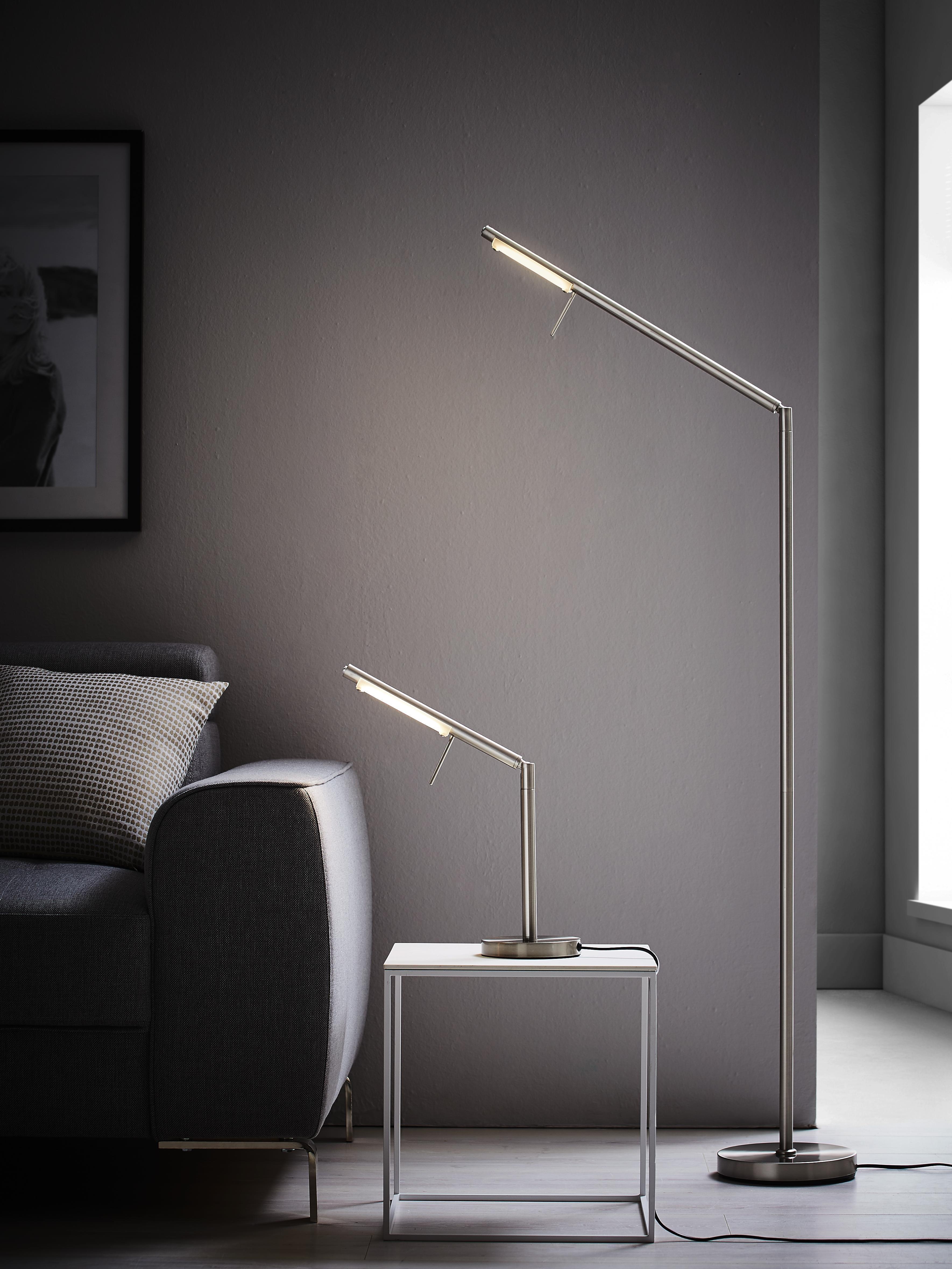 Geschickt Led Stehleuchte Bogenleuchte Lese Leuchte Bogenlampe Stehlampe Dimmbar 165cm Büromöbel