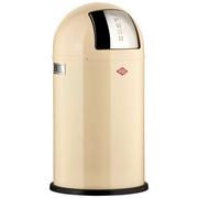 ABFALLSAMMLER PUSHBOY 50 L  - Edelstahlfarben/Creme, Basics, Kunststoff/Metall (40/75,5cm) - Wesco