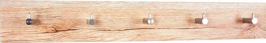 GARDEROBENLEISTE - Chromfarben/Eichefarben, Design, Holzwerkstoff/Metall (57/8/5cm)