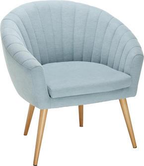 FÅTÖLJ - ljusblå/naturfärgad, Design, textil (75/77/45/66cm)