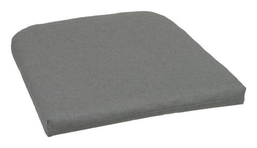 GARTENSITZKISSEN - Anthrazit, Basics, Textil (47/5/47cm)