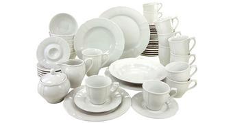Porzellan  KOMBISERVICE FLORA 50-teilig   - Weiß, Basics, Keramik - Creatable