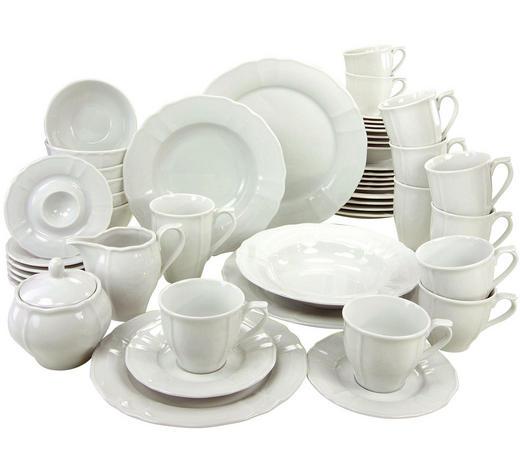 KOMBISERVICE FLORA 50-teilig - Weiß, Basics, Keramik - Creatable