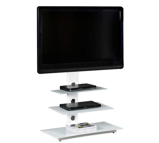 TV-ELEMENT 86/120/40 cm - Weiß, Design, Glas/Metall (86/120/40cm)