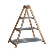 ETAGERE - Anthrazit/Akaziefarben, Basics, Holz/Stein (54/28/11cm) - Villeroy & Boch