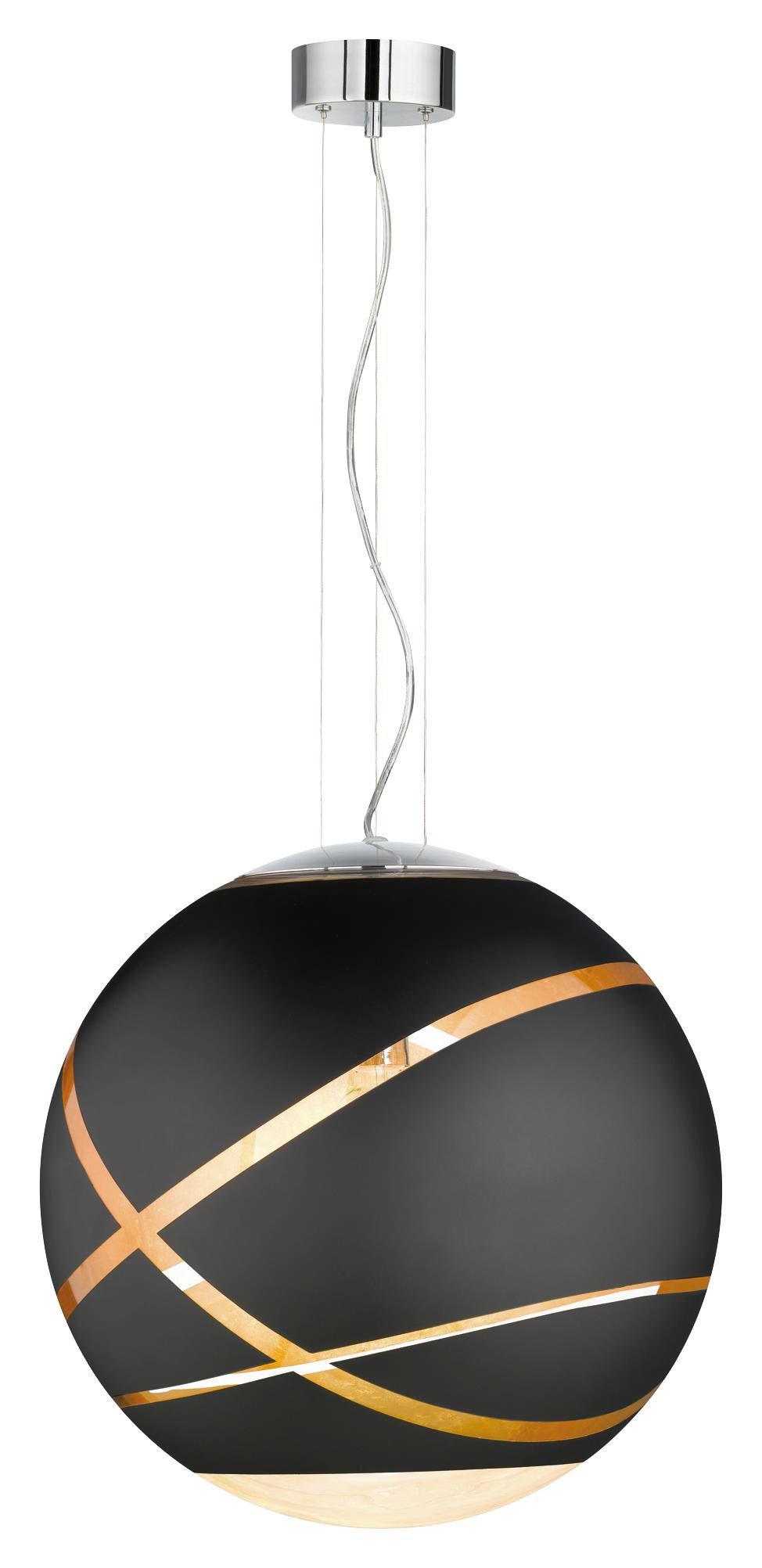 TAKLAMPA - kromfärg/svart, Lifestyle, metall/glas (50/150cm)