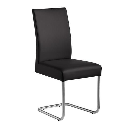SCHWINGSTUHL Lederlook Edelstahlfarben, Fango - Edelstahlfarben/Fango, Design, Textil/Metall (48/99/69cm) - Valnatura