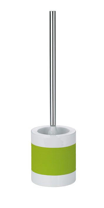 WC-BÜRSTENGARNITUR - Silberfarben/Weiß, Basics, Keramik/Kunststoff (12/38cm)