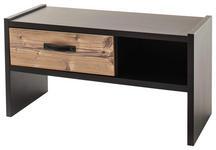 GARDEROBENBANK 92/48/38 cm  - Fichtefarben/Dunkelgrau, Trend, Holzwerkstoff/Textil (92/48/38cm) - Voleo