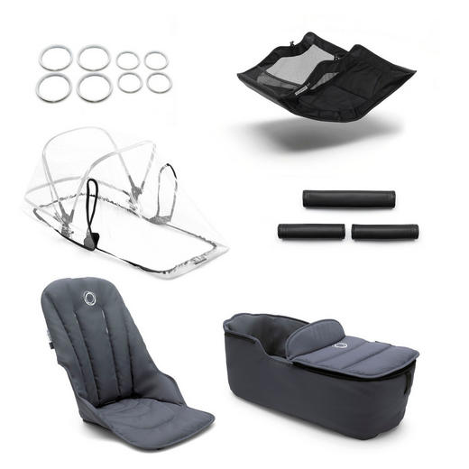 KINDERWAGENAUSSTATTUNG - Dunkelblau, Design, Textil (64/110/90cm) - Bugaboo