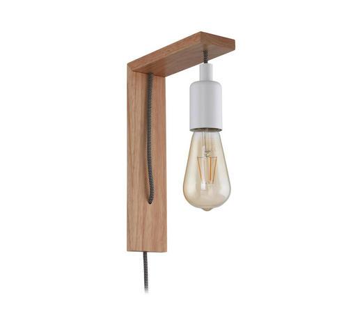 WANDLEUCHTE - Braun/Weiß, LIFESTYLE, Holz/Metall (6cm)