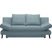 SCHLAFSOFA in Hellblau Textil - Schwarz/Hellblau, Design, Textil/Metall (200/85/90cm) - XORA