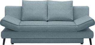 SCHLAFSOFA in Textil Hellblau  - Schwarz/Hellblau, Design, Textil/Metall (200/85/90cm) - Xora