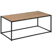 COUCHTISCH rechteckig Eichefarben - Eichefarben/Schwarz, Design, Metall (100/50/40cm) - Carryhome