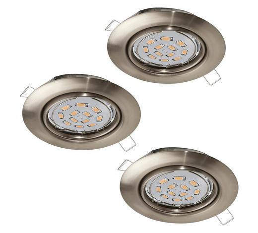 EINBAULEUCHTE LED-Leuchtmittel  - Nickelfarben, KONVENTIONELL, Metall (8,7cm)
