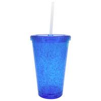 POHÁR NÁPOJOVÝ - modrá, Basics, umělá hmota (10/16cm) - BOXXX