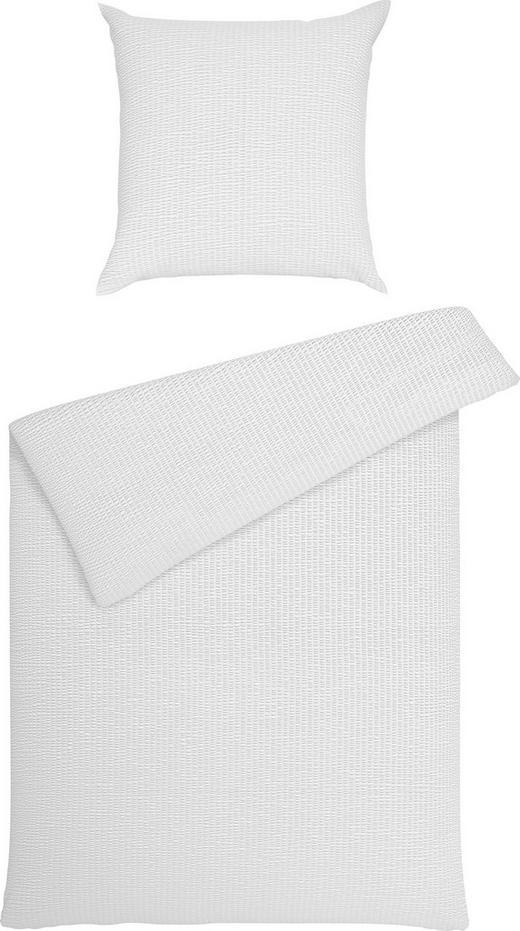 BETTWÄSCHE Seersucker Weiß 200/200 cm - Weiß, Basics, Textil (200/200cm) - JANINE