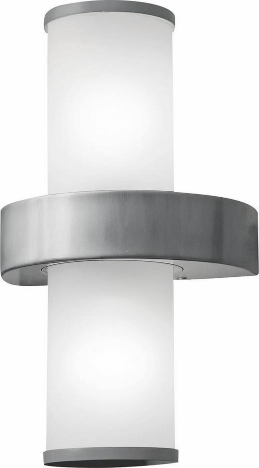 AUßENLEUCHTE - Edelstahlfarben/Silberfarben, KONVENTIONELL, Glas/Metall (20/35/13,5cm)