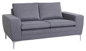 SOFFA - alufärgad/grå, Design, metall/trä (166/85/86cm) - Low Price