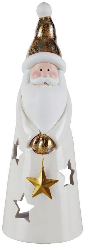LJUSLYKTA - creme/guldfärgad, Lifestyle, keramik (10/10/28cm) - X-Mas