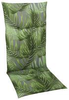 SESSELAUFLAGE in Grau, Grün Blätter - Grau/Grün, Design, Textil (118/48/5cm)
