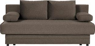 SCHLAFSOFA in Textil Braun  - Braun, Design, Textil (200/90/100cm) - Novel