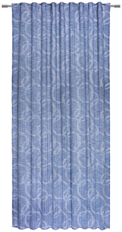 FERTIGVORHANG halbtransparent - Blau, KONVENTIONELL, Textil (140/245/cm) - Esposa