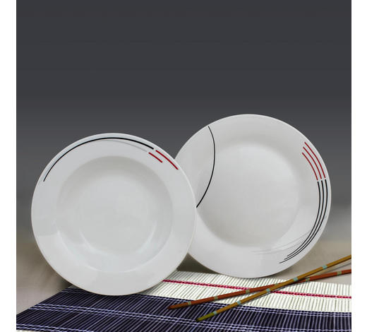 Porzellan  TAFELSERVICE  12-teilig  - Basics, Keramik (23,9/23,7/17,2cm)