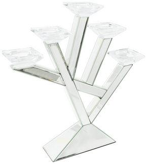 VÄRMELJUSHÅLLARE - silver, Design, trä/glas (52,5/54,5/10cm) - Ambia Home