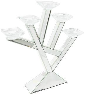 VÄRMELJUSHÅLLARE - silver, Design, glas/trä (52,5/54,5/10cm) - Ambia Home