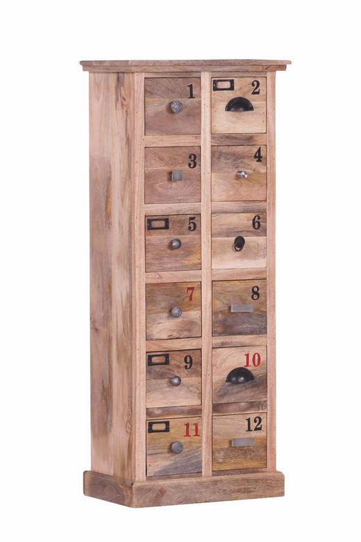 KOMMODE Mangoholz massiv Hellbraun - Hellbraun/Silberfarben, LIFESTYLE, Holz/Metall (50/120/30cm)