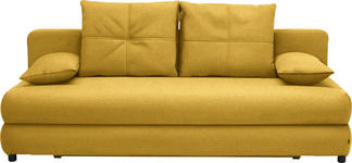 SCHLAFSOFA in Textil Gelb - Gelb/Schwarz, Design, Kunststoff/Textil (208/73-90/102cm) - Hom`in
