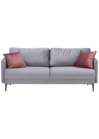Sofa in Grau Textil   - Schwarz/Rosa, Modern, Textil/Metall (200/72/85/88cm) - Carryhome