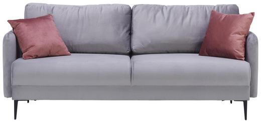 SOFA in Textil Grau - Schwarz/Rosa, MODERN, Textil/Metall (200/72/85/88cm) - Carryhome
