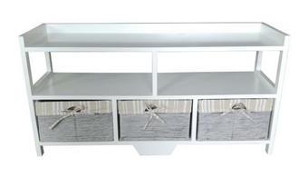 KOMODA - bijela, Lifestyle, drvni materijal/drvo (95/48/30cm) - Carryhome