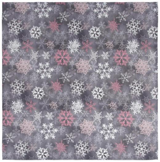 TISCHDECKE Textil Grau, Rosa, Weiß 80/80 cm - Rosa/Weiß, KONVENTIONELL, Textil (80/80cm) - X-Mas