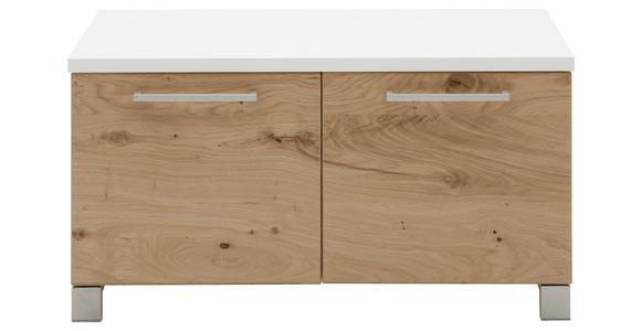 GARDEROBENBANK 84/45/40 cm  - Chromfarben/Eichefarben, Design, Holz/Holzwerkstoff (84/45/40cm) - Dieter Knoll