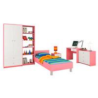 SOBA ZA MLADE - roza/bijela, Konvencionalno, drvni materijal (445/190/205cm) - Boxxx