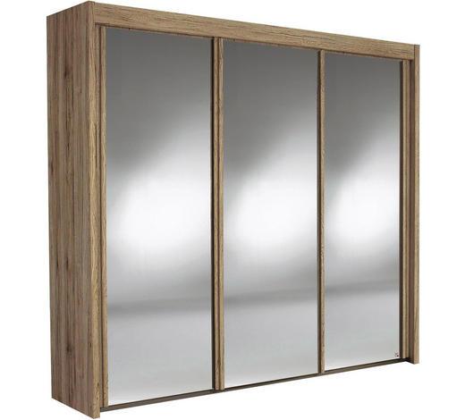 SKŘÍŇ S POSUVNÝMI DVEŘMI, barvy dubu - barvy dubu, Konvenční, kov/kompozitní dřevo (225/223/65cm) - Cantus