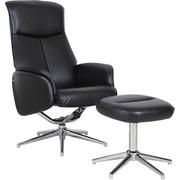 POČIVALNIK  črna, krom kovina, tekstil - črna/krom, Design, kovina/tekstil (71/104-92/72,5-106cm) - Xora
