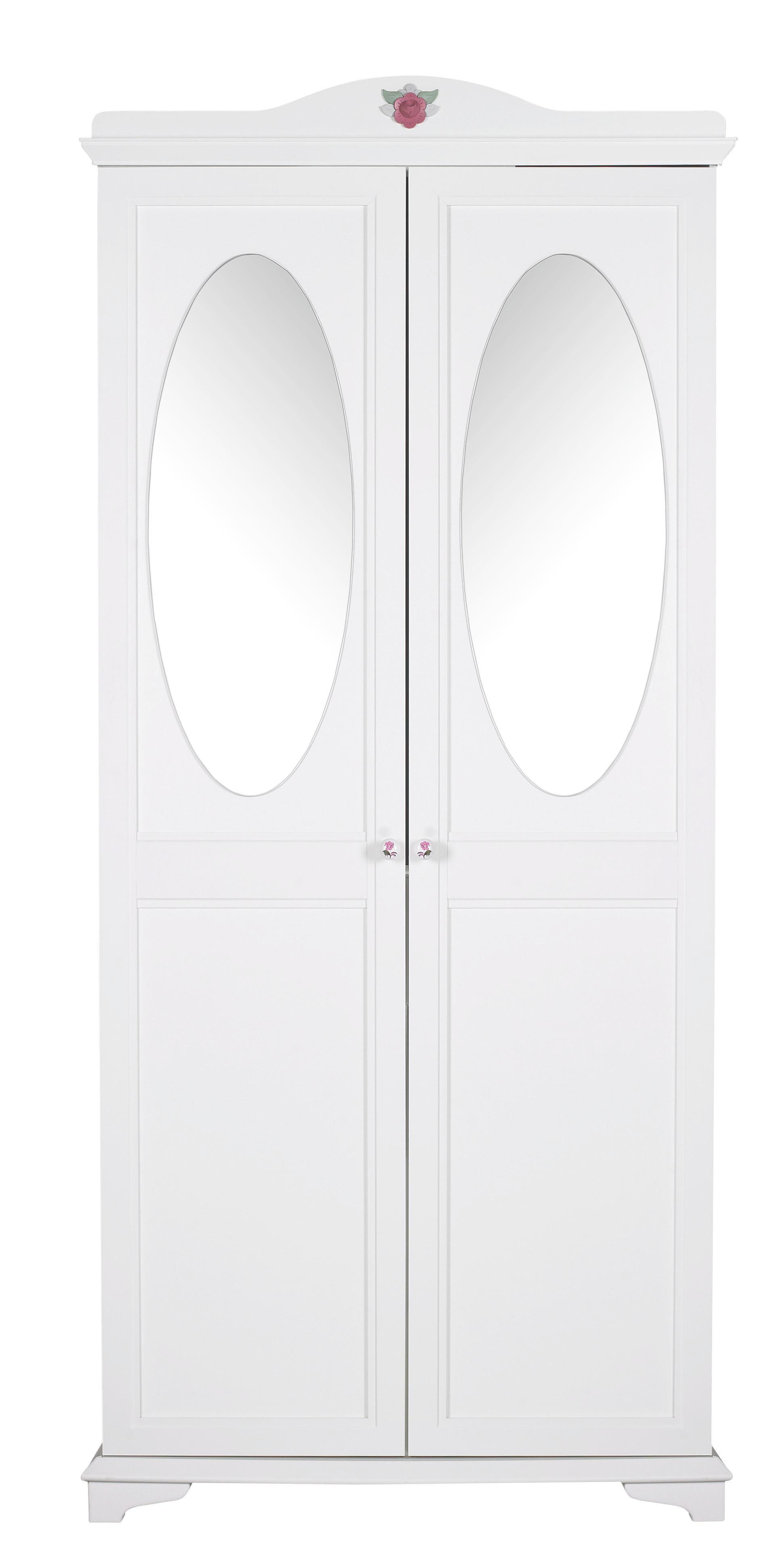 KLEIDERSCHRANK In Kiefer, Tanne Weiß   Weiß, KONVENTIONELL,  Keramik/Holzwerkstoff (91