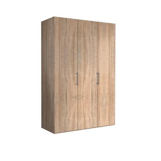 DREHTÜRENSCHRANK 3-türig Sonoma Eiche - Alufarben/Sonoma Eiche, KONVENTIONELL, Holzwerkstoff/Metall (150/216/58cm) - Hom`in