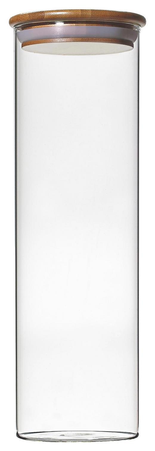 FÖRVARINGSGLAS - klar/naturfärgad, Basics, glas/trä (10/31cm) - HOMEWARE