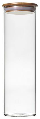 STAKLENKA ZA ZALIHE - prozirno/natur boje, Konvencionalno, staklo/drvo (10/31cm) - Homeware