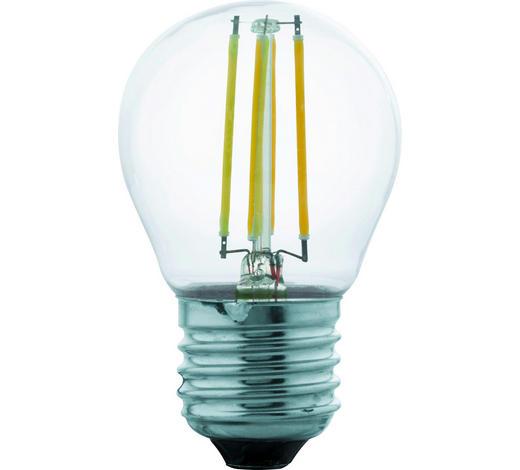 LED-Leuchtmittel E27  - Klar, Basics, Glas (7,3cm) - Homeware