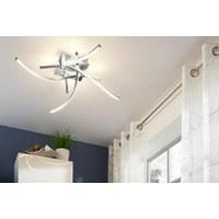 LED-DECKENLEUCHTE - Nickelfarben, Design, Metall (78/78/14cm)