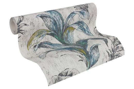 VLIESTAPETE 10,05 m - Türkis/Beige, Design, Textil (53/1005cm)