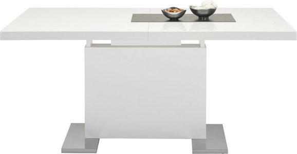 UTDRAGBART BORD - vit/kromfärg, Basics, metall/träbaserade material (160-200/76/90cm)